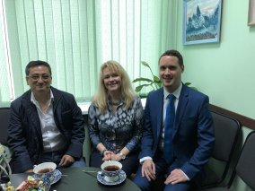 President of IPC with Regional Director for Eastern Europe, AI and Executive Director, AI